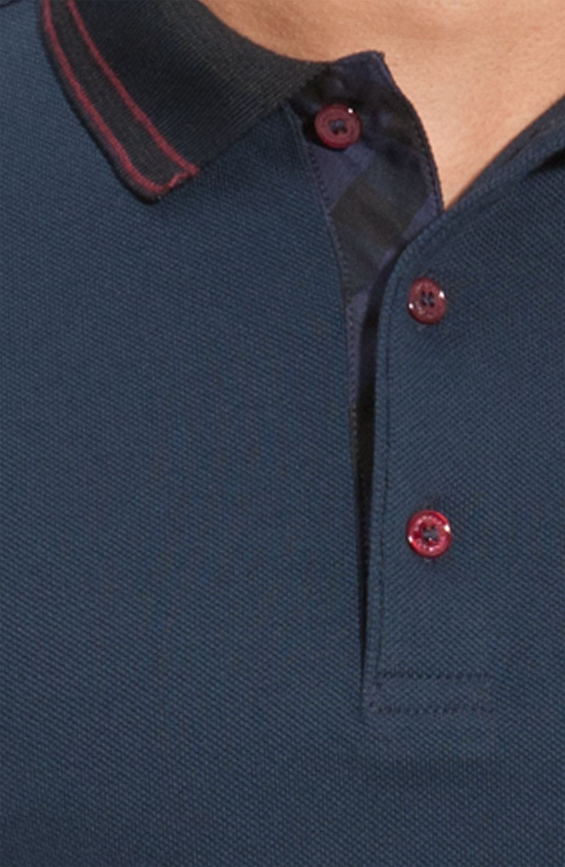 Alternate Image 3  - Burberry London 'Adler' Check Placket Cotton Polo
