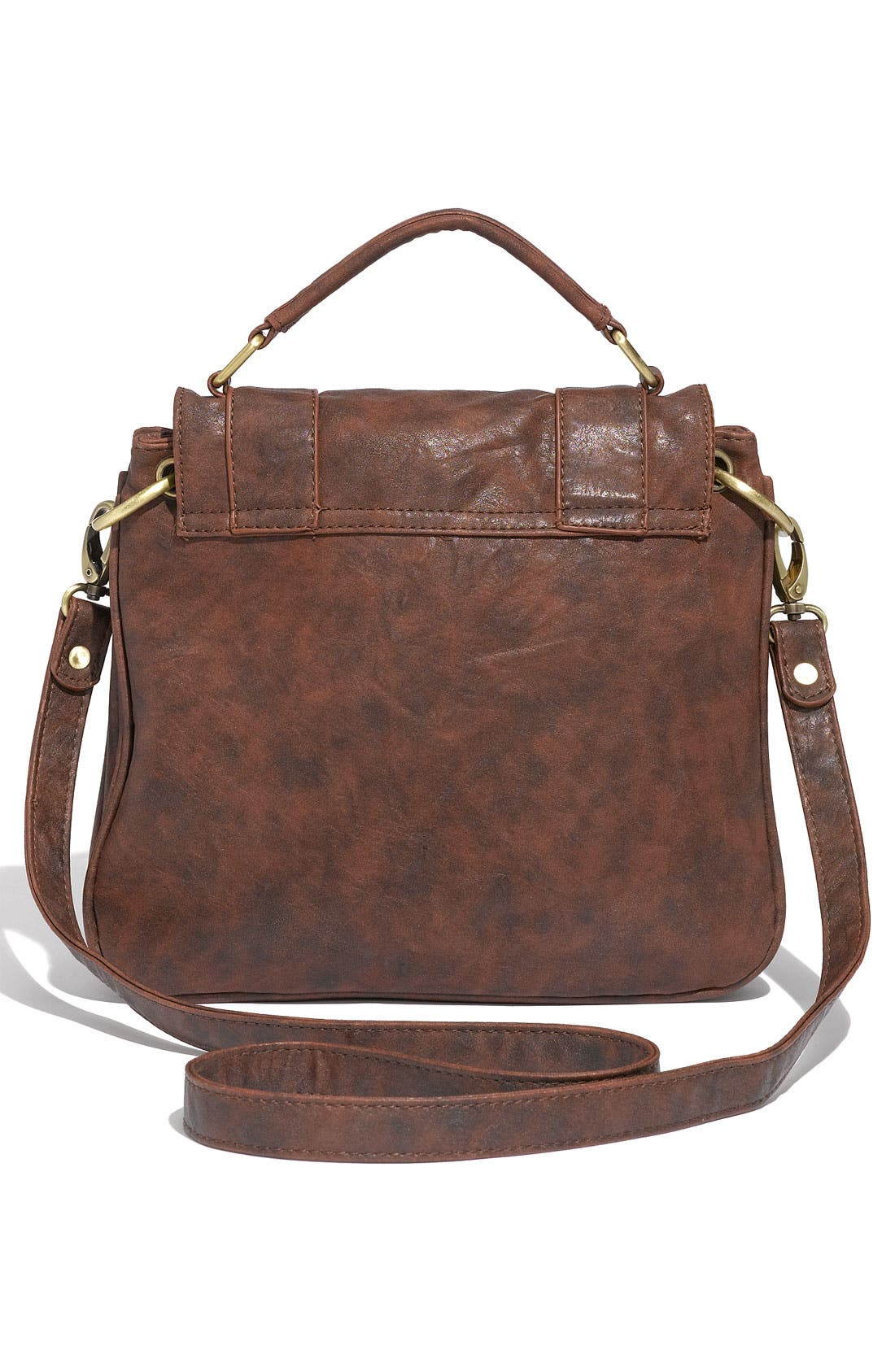 Alternate Image 3  - Cesca Weathered Faux Leather Crossbody Satchel