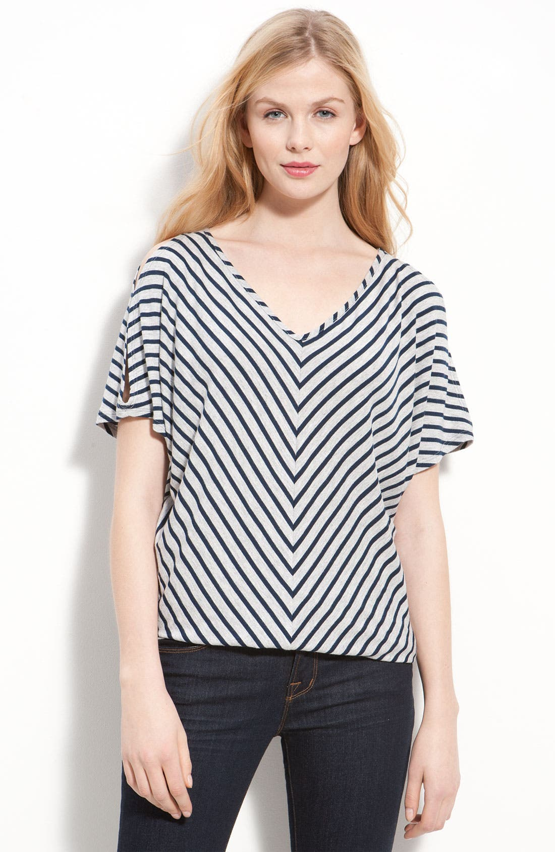 Alternate Image 1 Selected - Cielo Stripe V-Neck Top