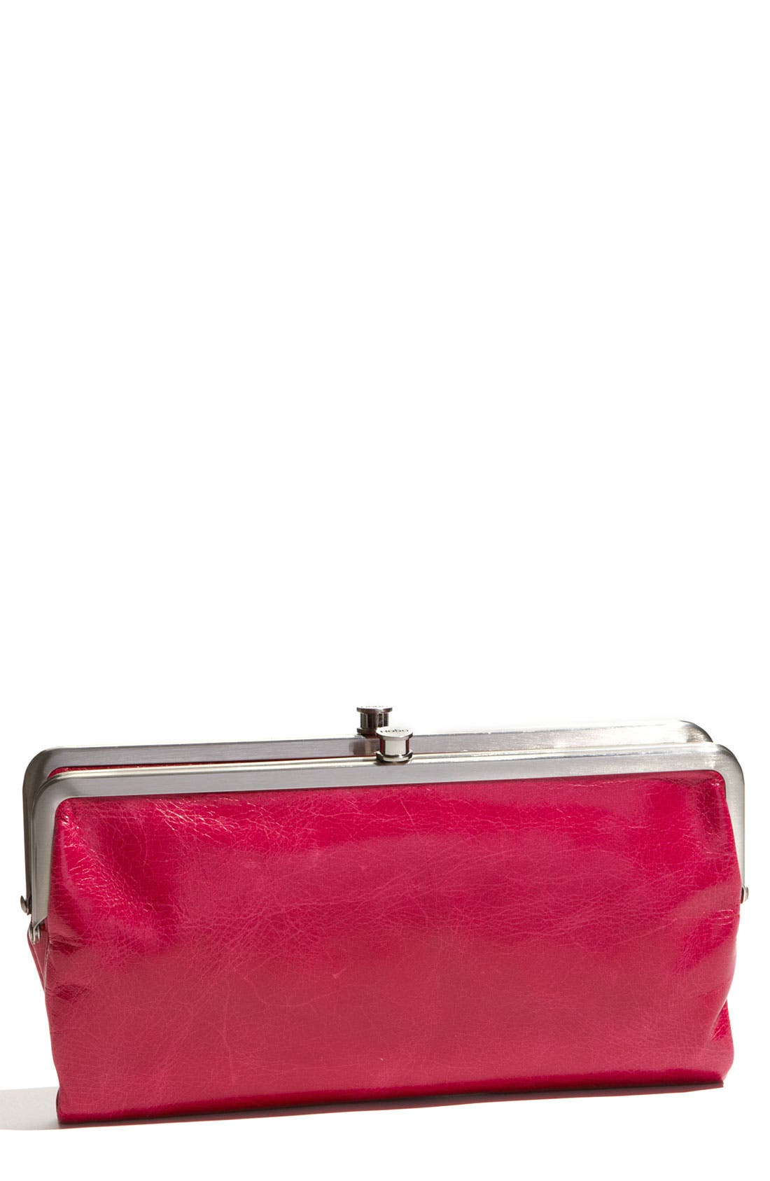 Main Image - Hobo 'Lauren' Leather Double Frame Clutch