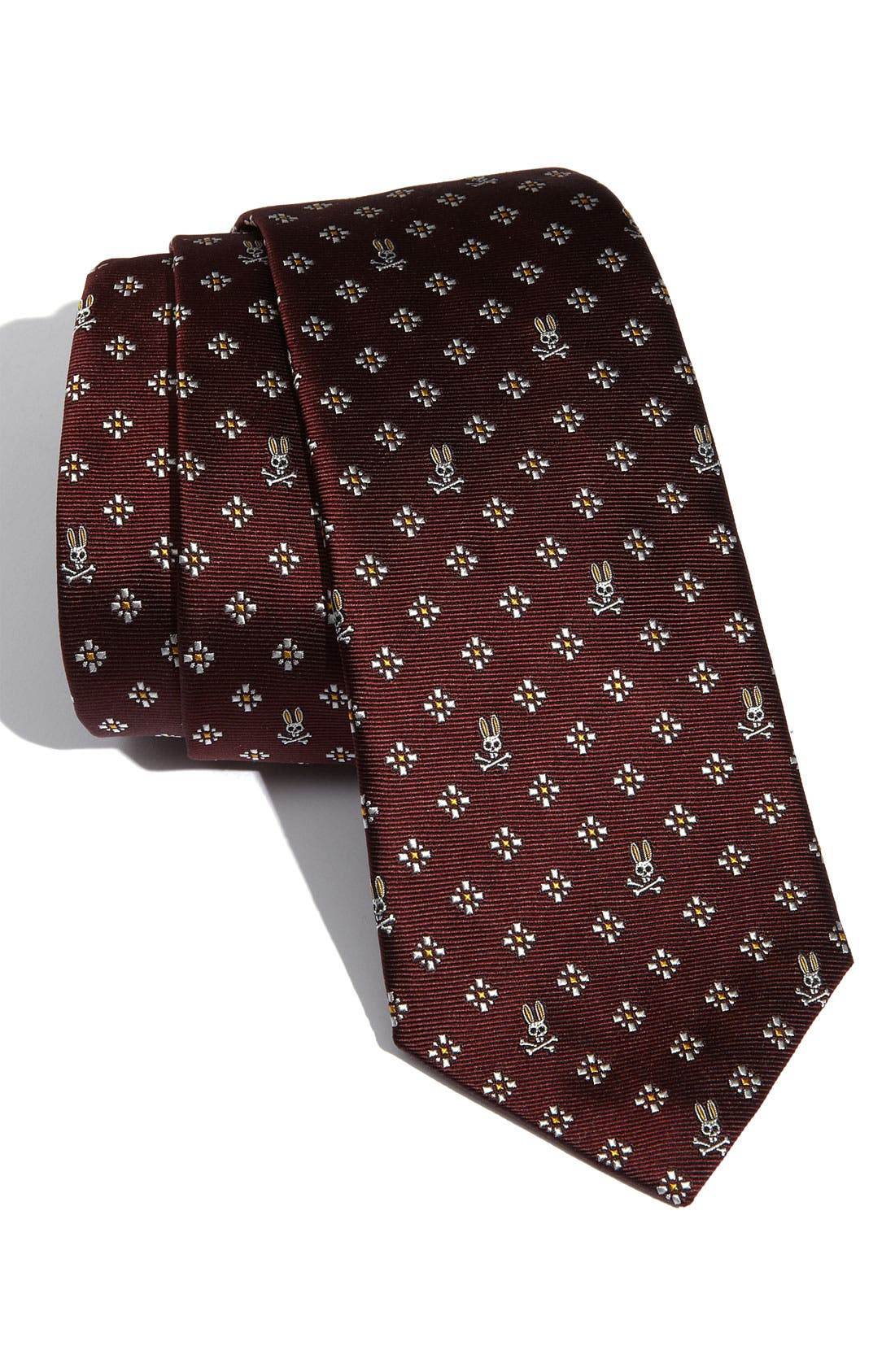 Main Image - Psycho Bunny 'Macclesfield' Woven Silk Tie