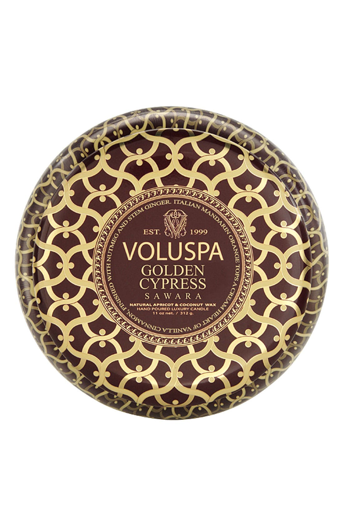 Main Image - Voluspa 'Maison Rouge - Golden Cypress Sawara' 2-Wick Scented Candle