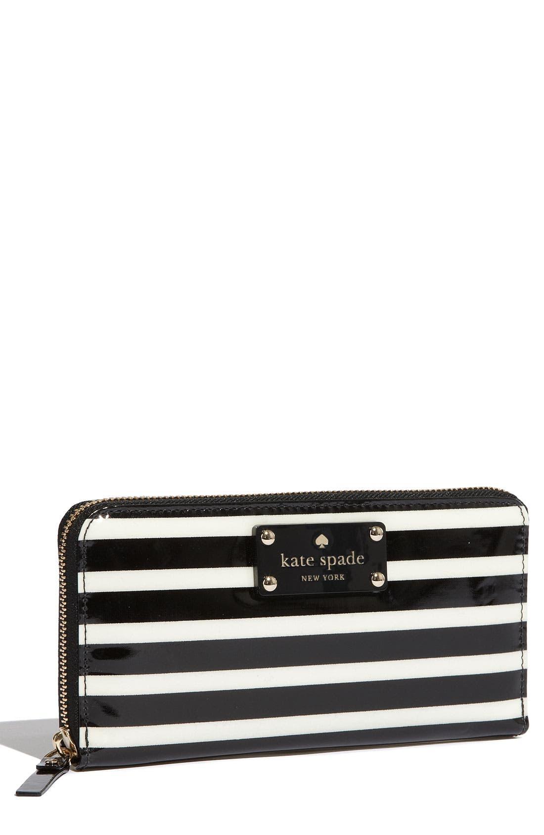 Main Image - kate spade new york 'stripe lacey' zip around wallet