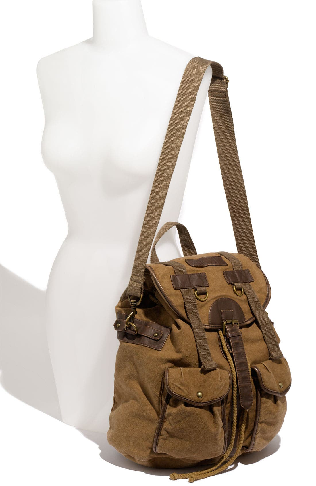 Alternate Image 4  - T-Shirt & Jeans Faux Leather Trim Field Backpack