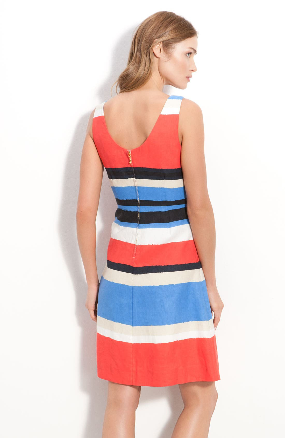 Alternate Image 2  - kate spade new york 'jillian' bow front stripe dress