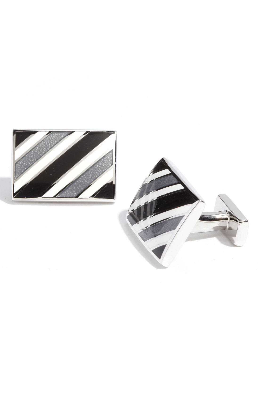 Alternate Image 1 Selected - Thomas Pink Stripe Cuff Links