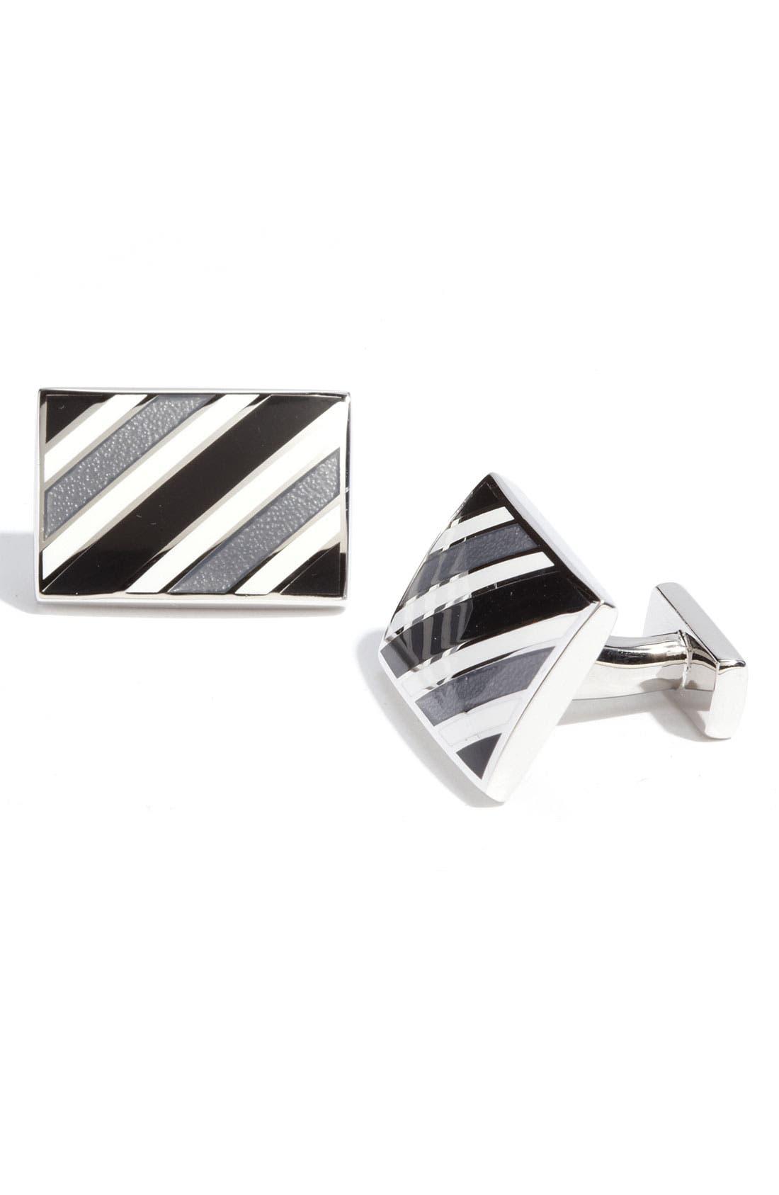 Main Image - Thomas Pink Stripe Cuff Links