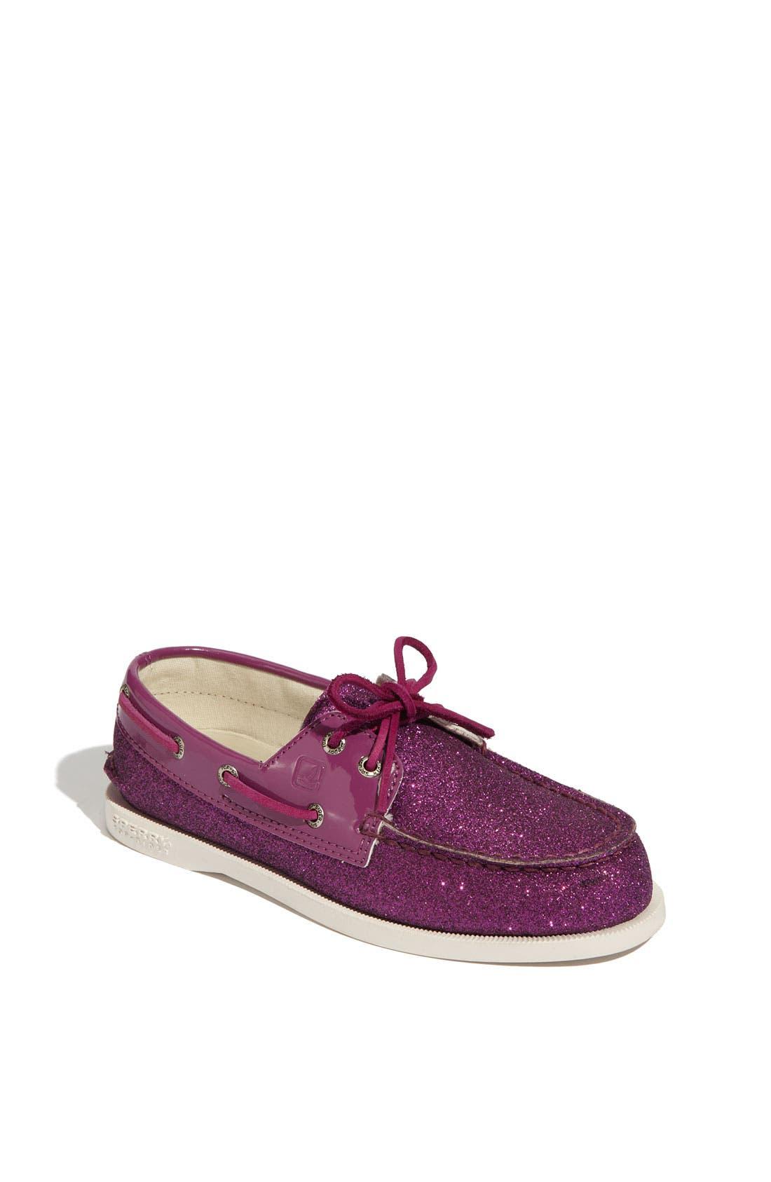 Alternate Image 1 Selected - Sperry Top-Sider® 'Authentic Original' Glitter Boat Shoe (Toddler, Little Kid & Big Kid)