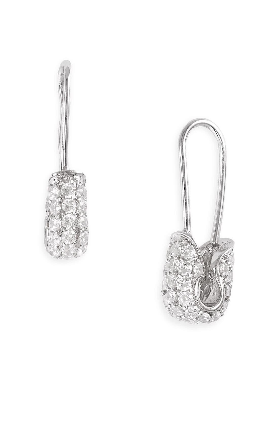 Alternate Image 1 Selected - Tom Binns 'Bejewelled Safety Binns' Earrings