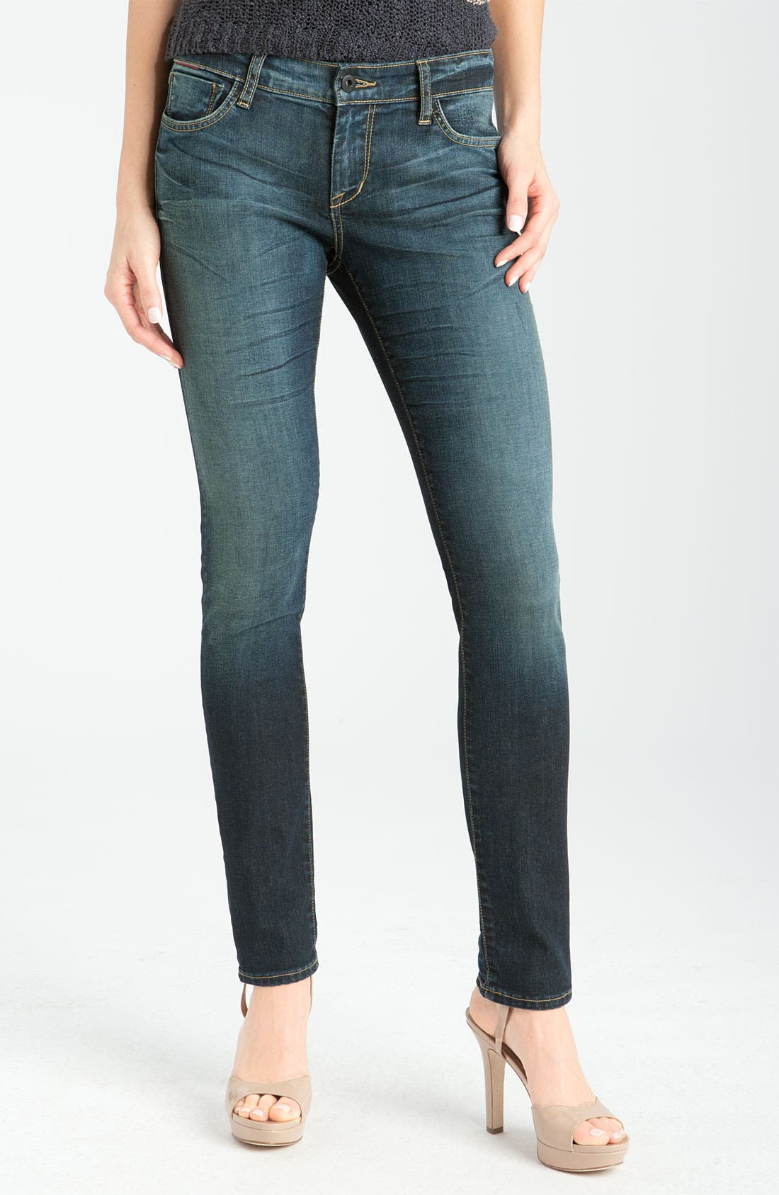 Alternate Image 2  - !iT Collective Coated Skinny Jeans