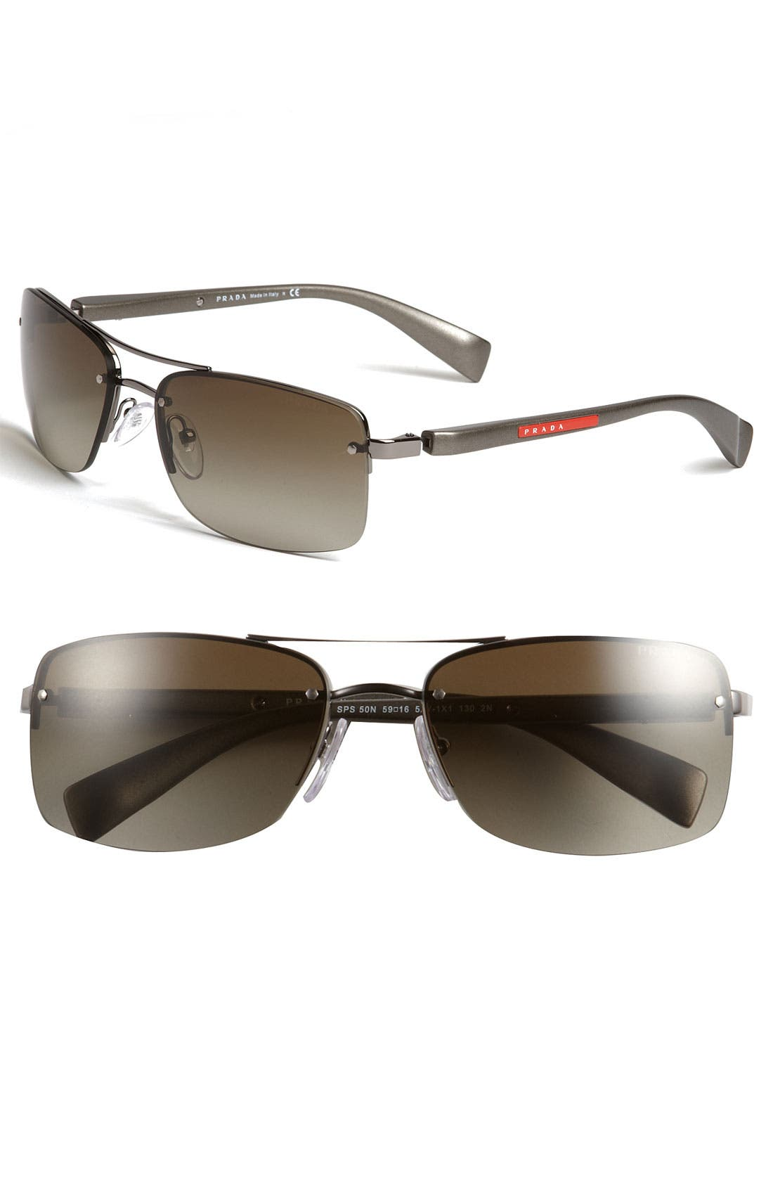 Main Image - Prada 59mm Rectangle Sunglasses