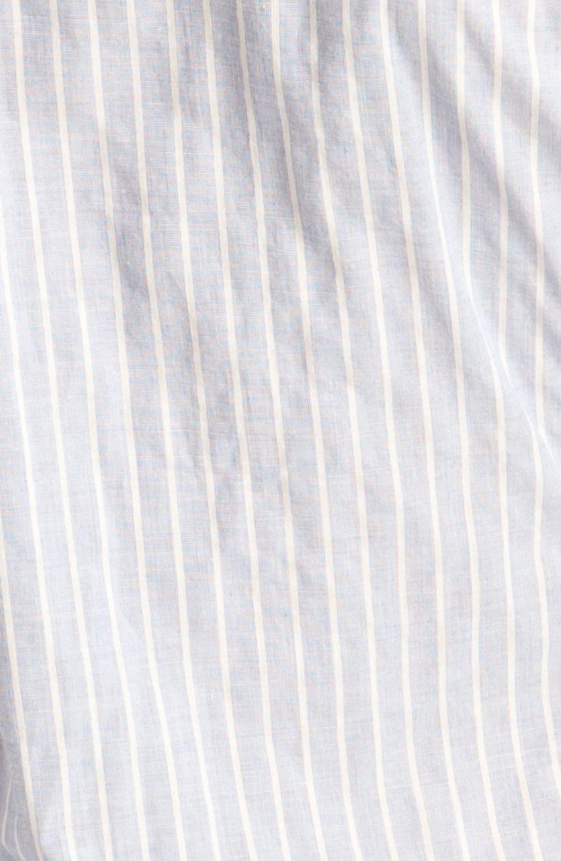 Alternate Image 3  - James Perse Jersey Inset Half Sleeve Stripe Shirt