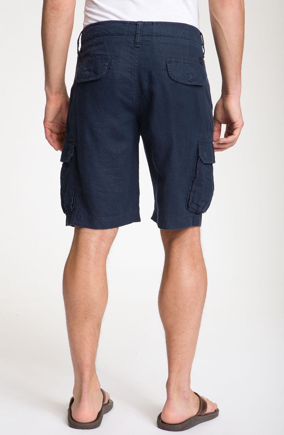 Alternate Image 2  - BOSS Black 'Crew' Linen Cargo Shorts