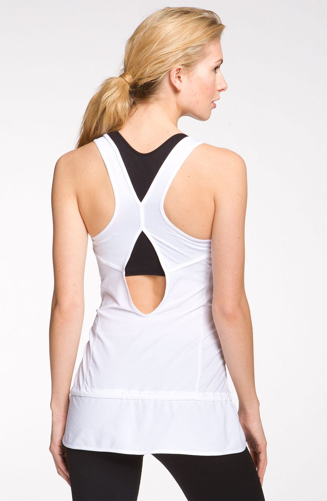 Alternate Image 2  - Zella Back Cutout Layering Tank
