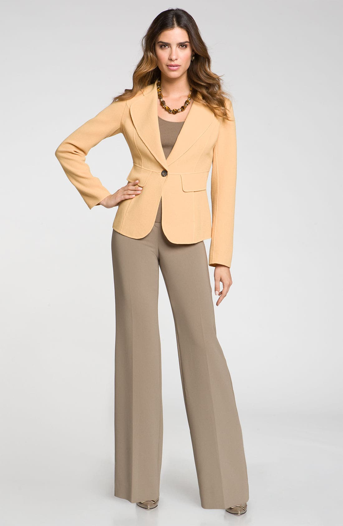 Alternate Image 2  - St. John Collection Wide Leg Crepe Marocain Pants