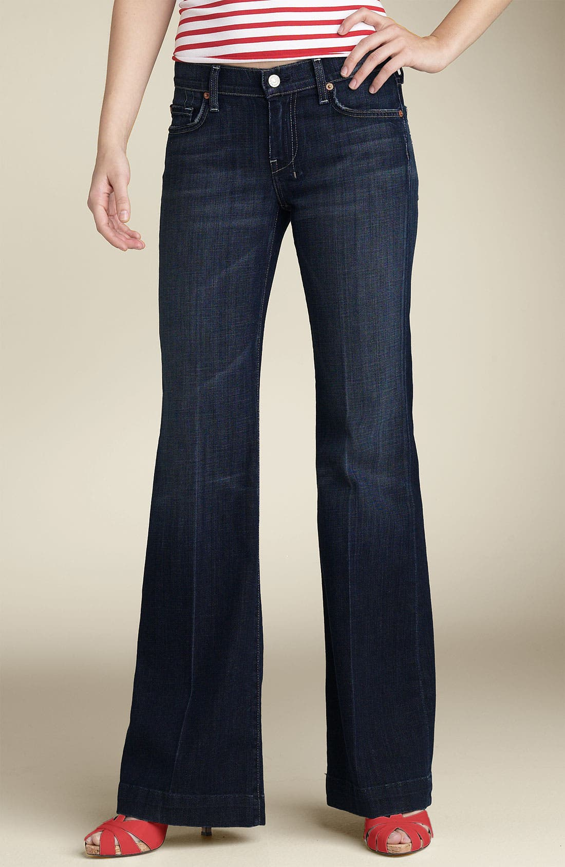 Alternate Image 2  - 7 For All Mankind® 'Dojo' Stretch Trouser Jeans (Indigo Wash) (Short Inseam)