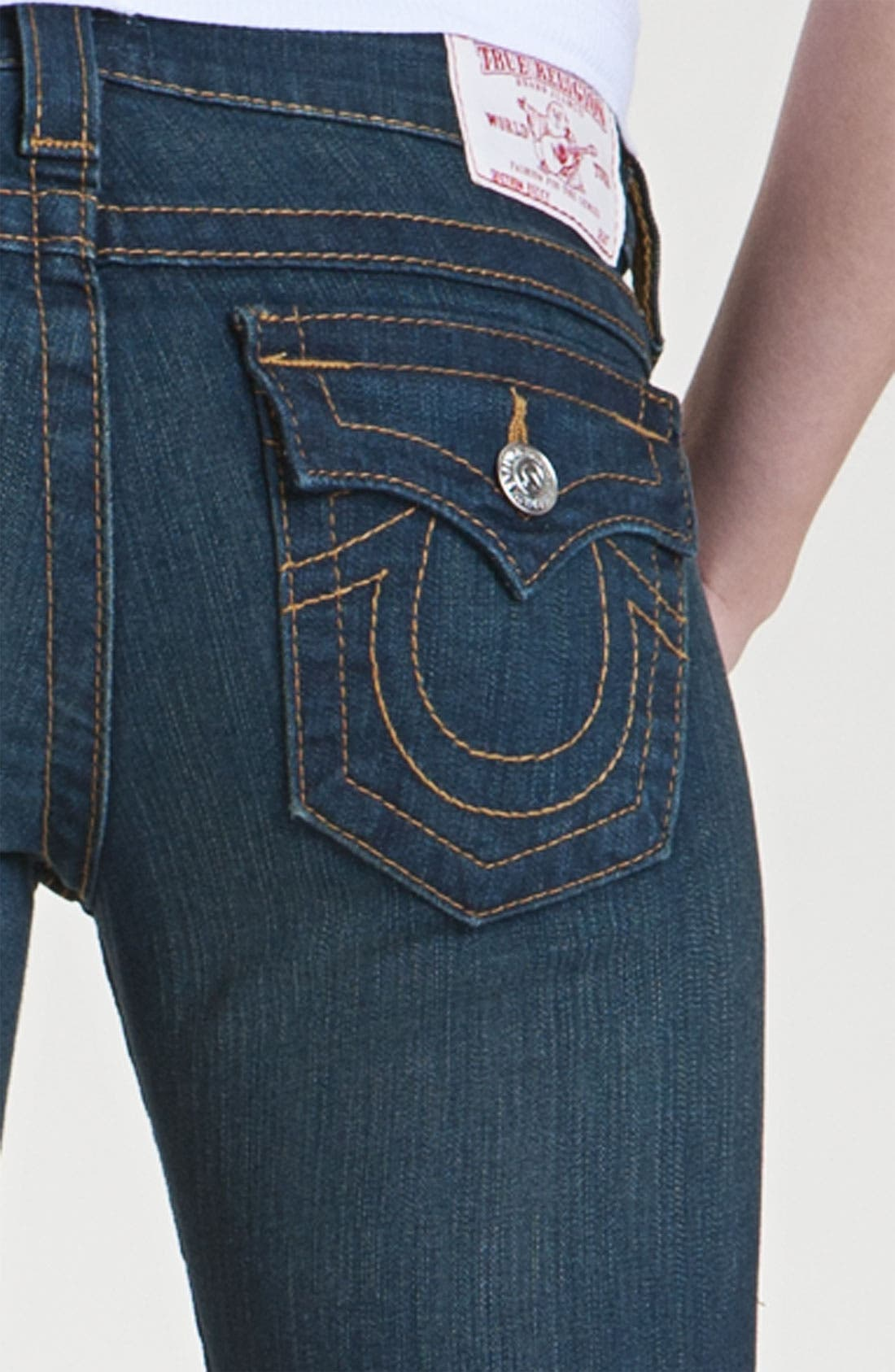 Alternate Image 3  - True Religion Brand Jeans 'Becky' Bootcut Jeans (Vera Cruz) (Petite)
