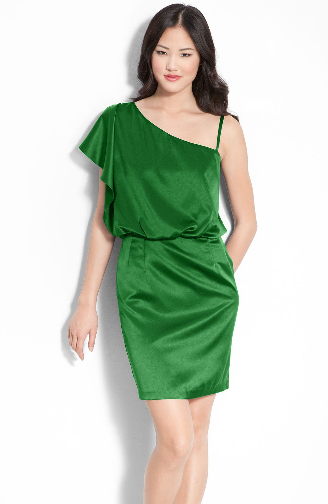Main Image - Jessica Simpson One Shoulder Satin Dress