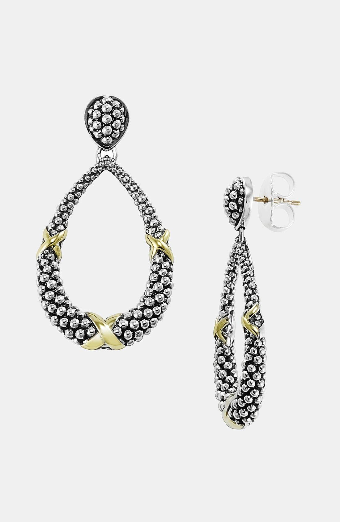 Alternate Image 1 Selected - LAGOS 'X' Open Drop Earrings