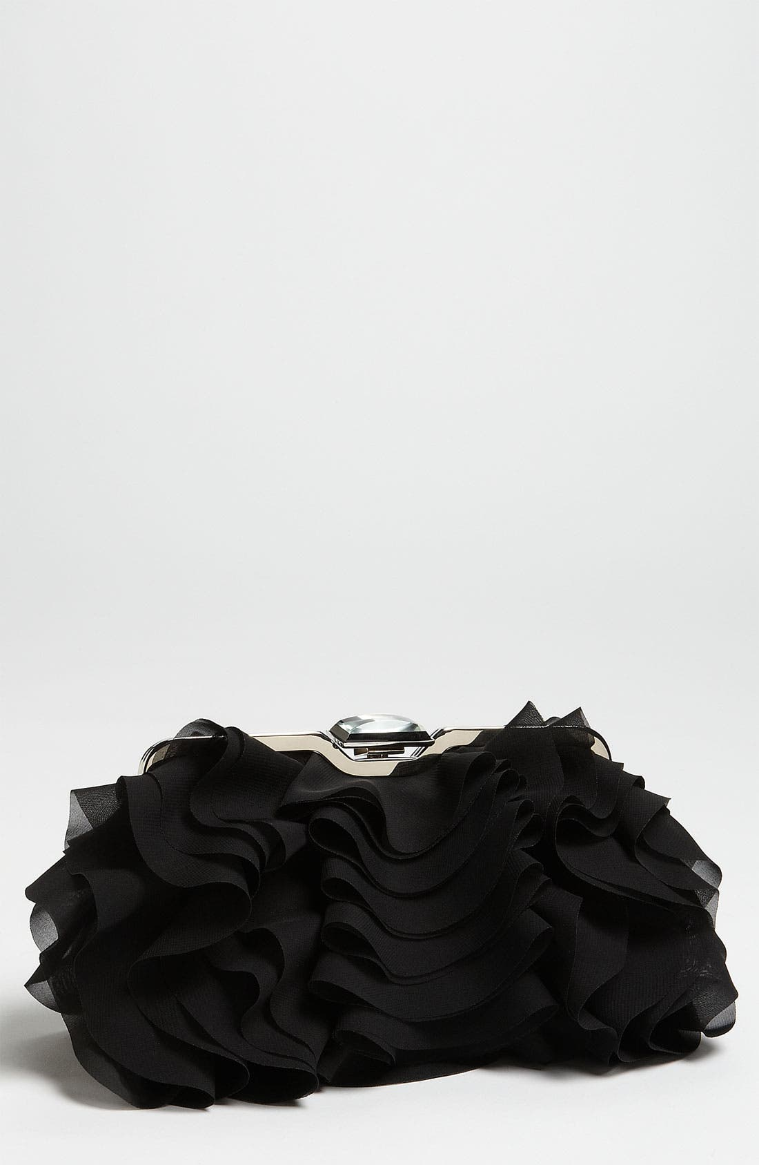 Alternate Image 1 Selected - Glint Ruffle Front Clutch
