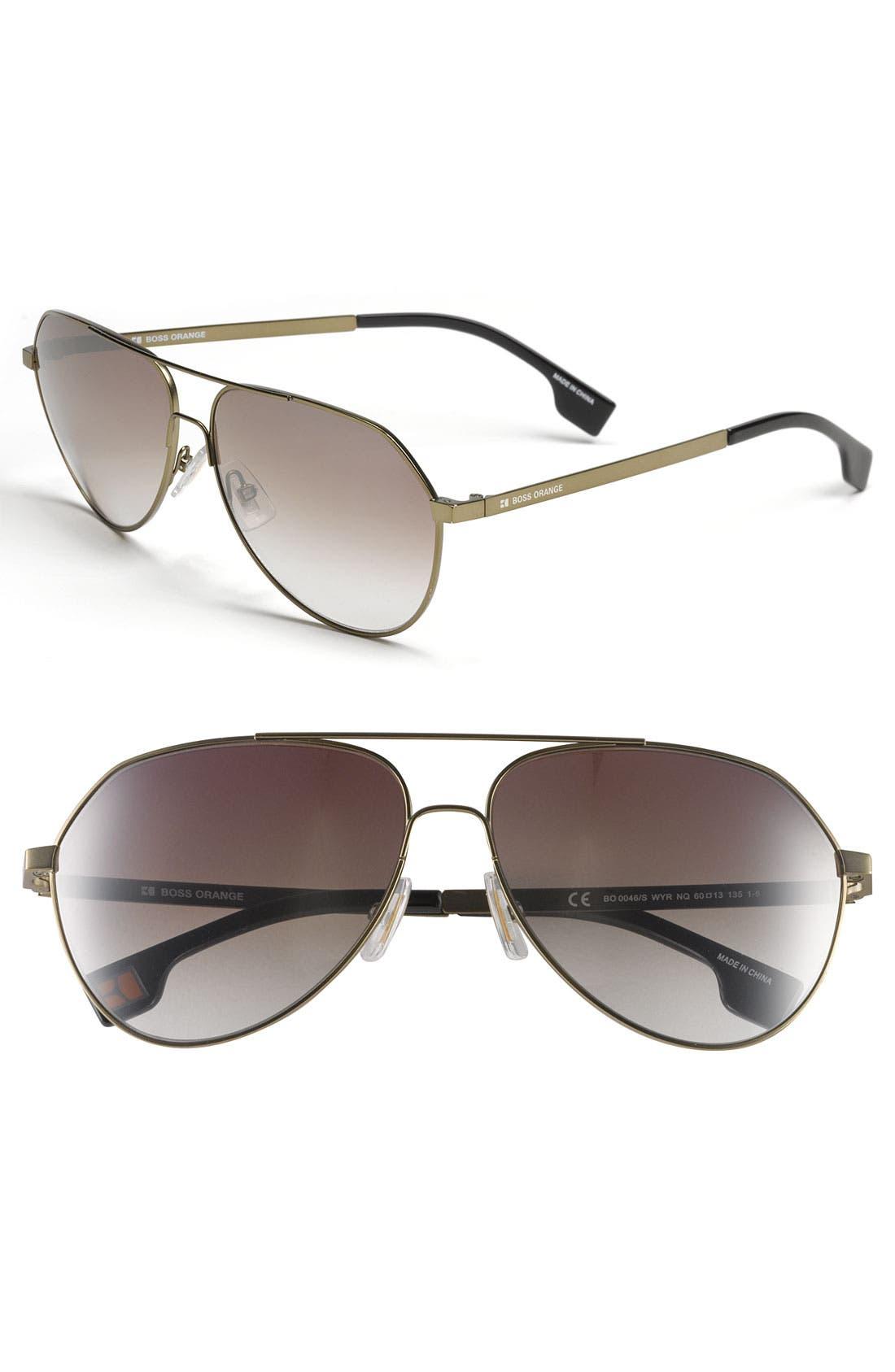 Alternate Image 1 Selected - BOSS Orange 60mm Aviator Sunglasses