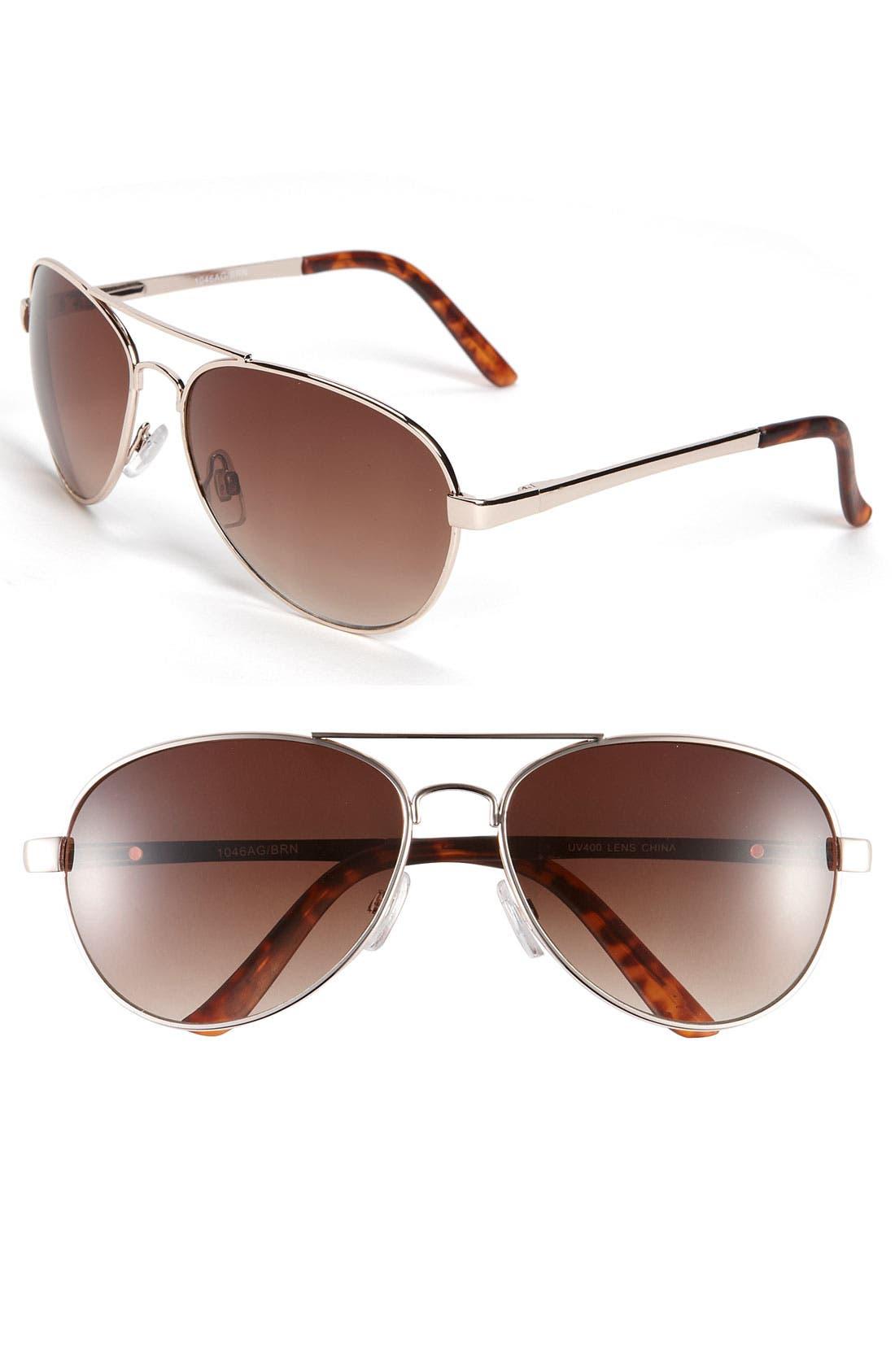 Main Image - KW 'Rush' Aviator Sunglasses
