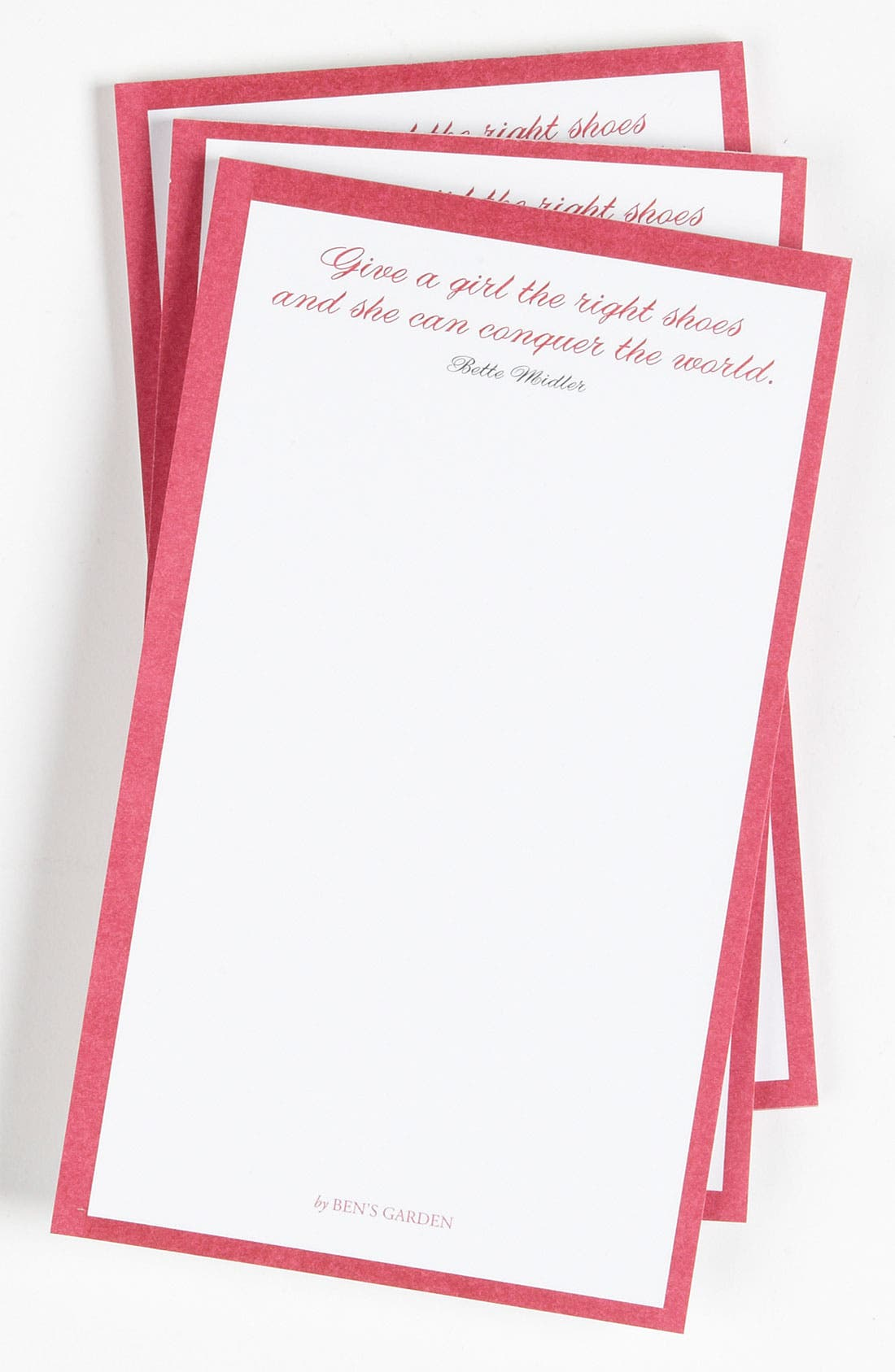 Main Image - Ben's Garden 'The Right Shoes' Notepads (3-Pack)