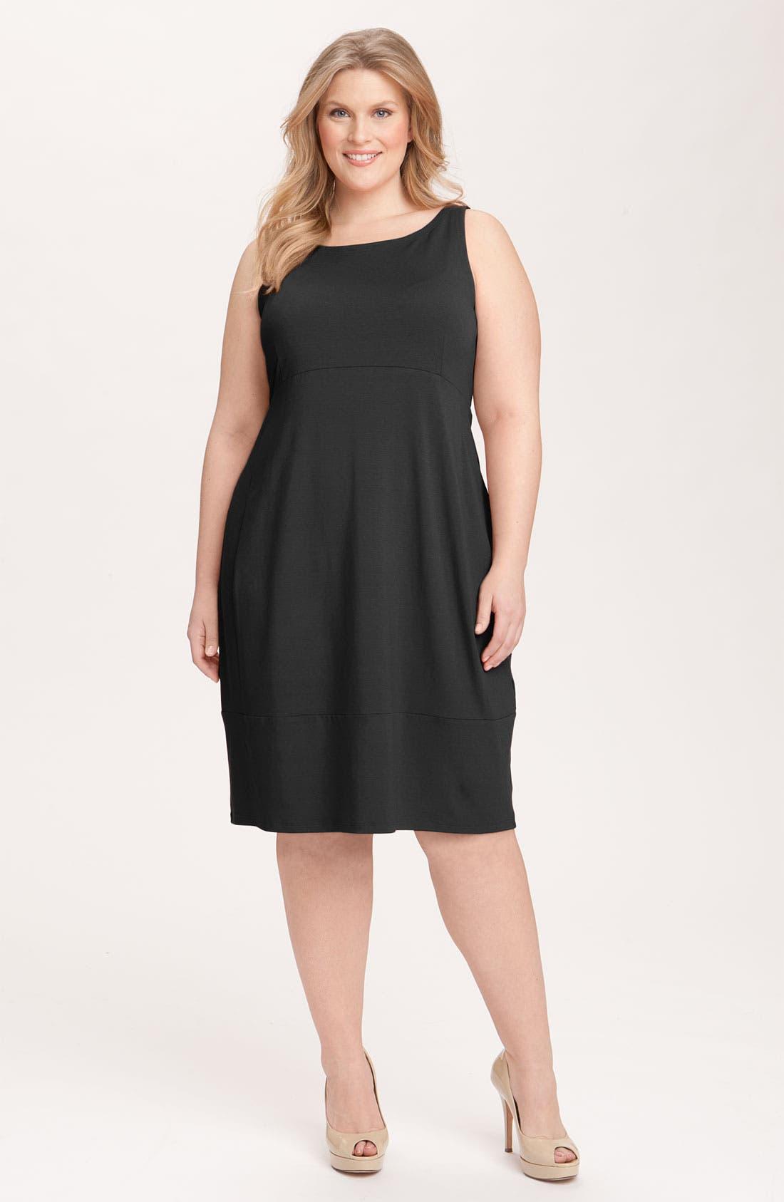 Alternate Image 1 Selected - Eileen Fisher Cutout Back Sleeveless Dress (Plus)