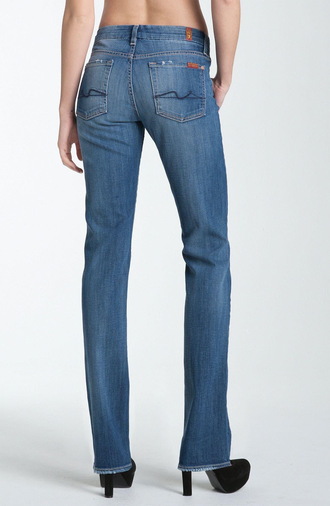 Alternate Image 2  - 7 For All Mankind® 'Kimmie' Straight Leg Jeans (Medium Worn)