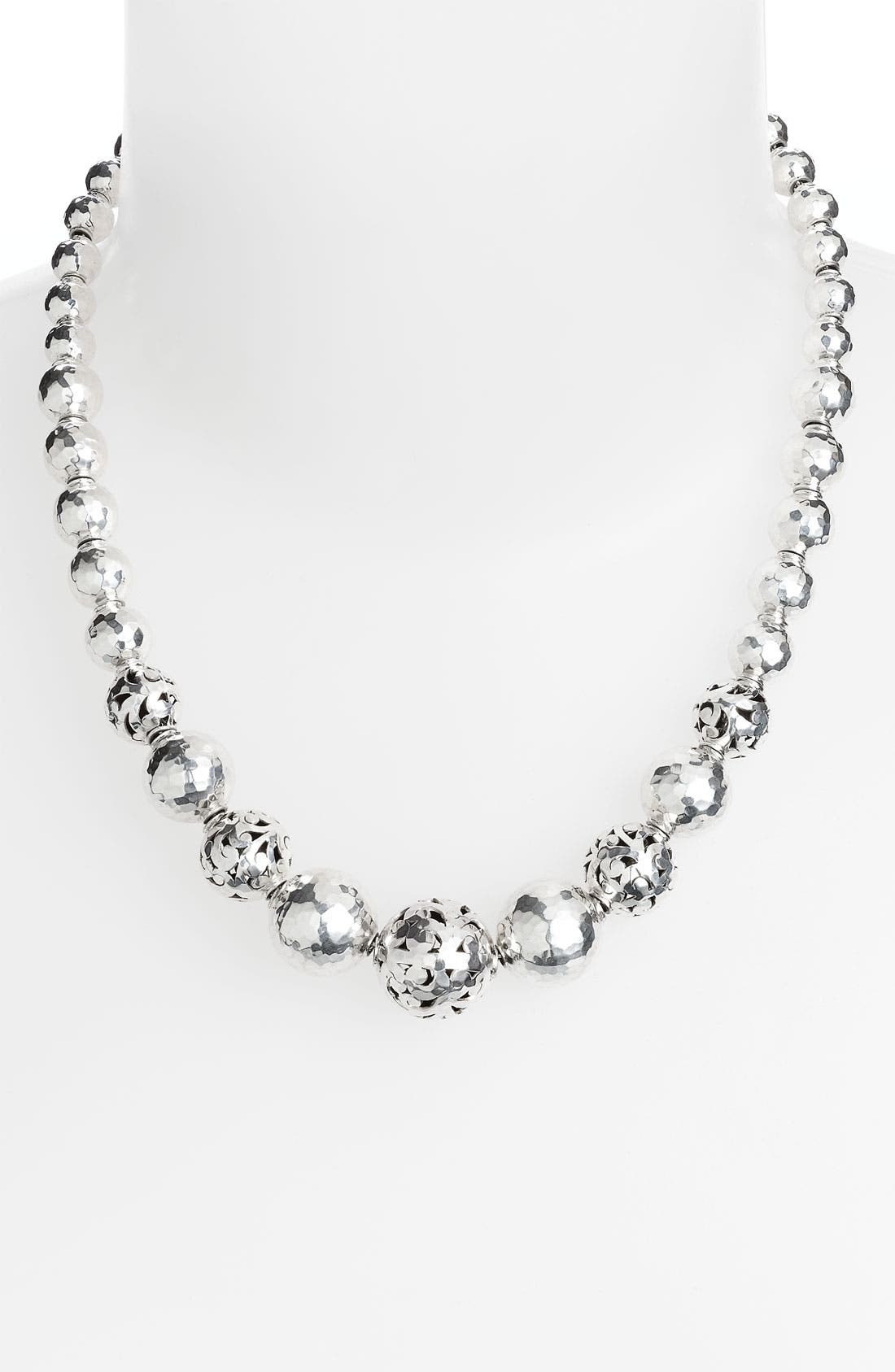 Main Image - Lois Hill 'Ball & Chain' Graduated Hammered Bead Necklace