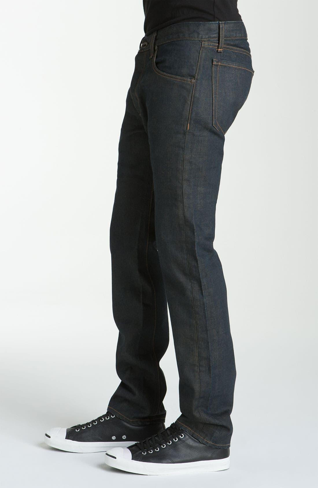 Alternate Image 2  - rag & bone 'RB15X' Slim Straight Jeans (Olive One Year Wash)