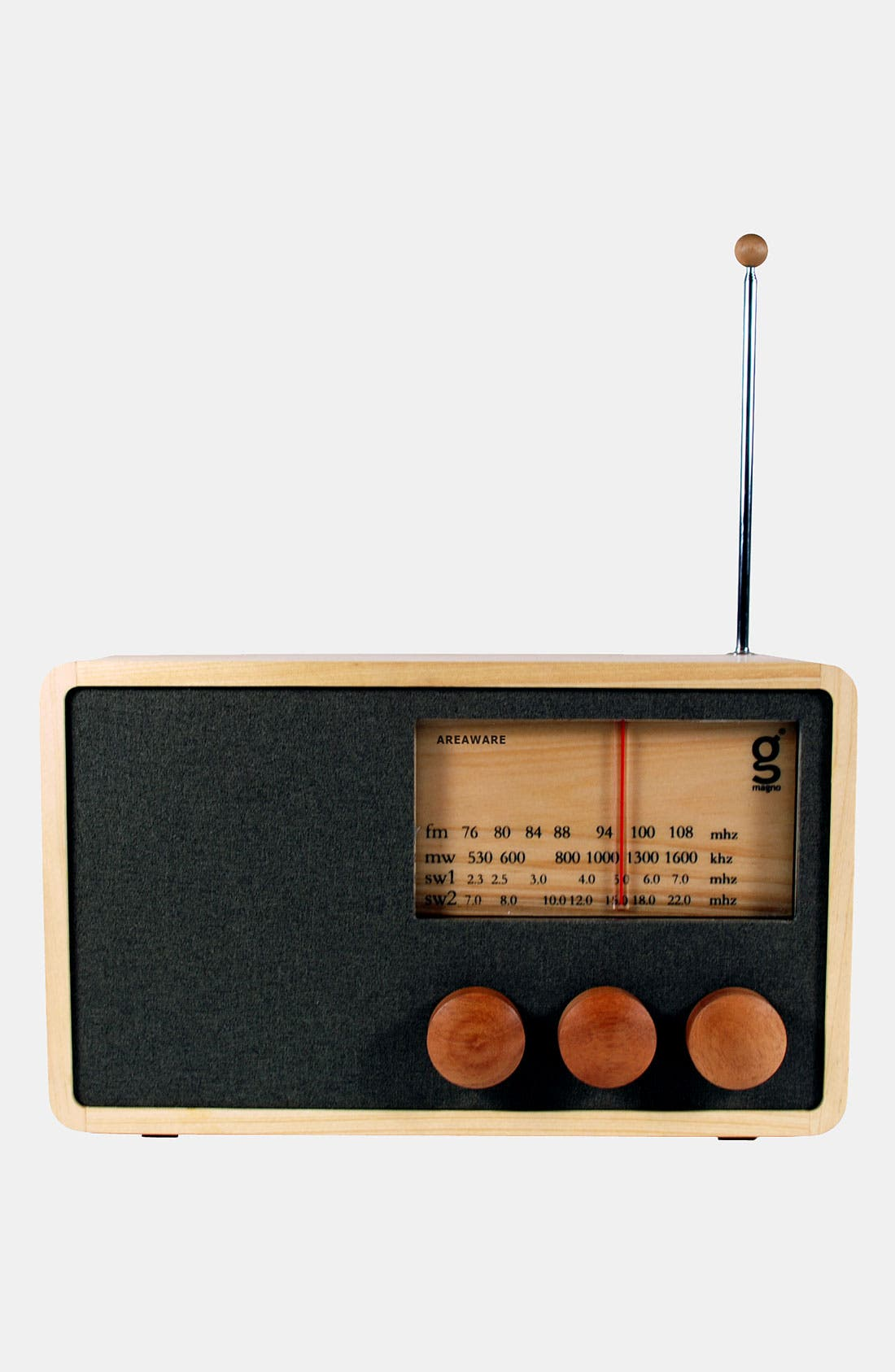 Alternate Image 1 Selected - Handcrafted Pine & Mahogany 'Magno' Radio, Large