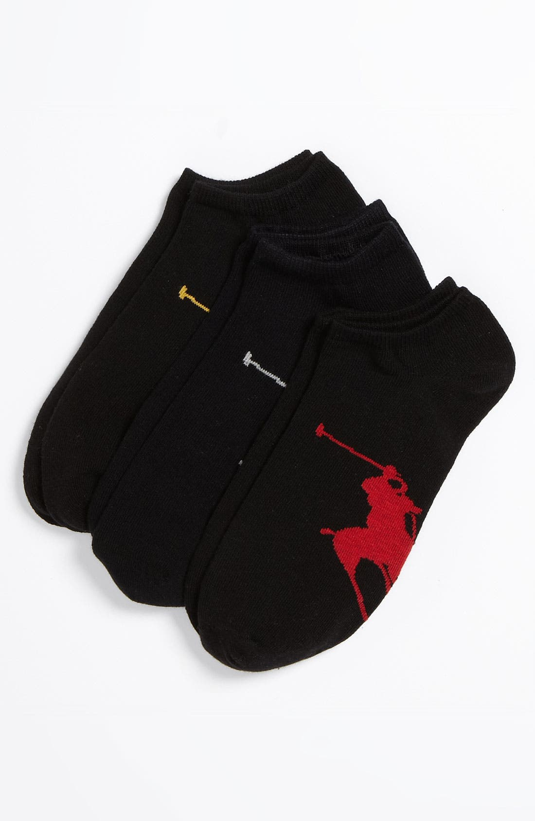Alternate Image 1 Selected - Polo Ralph Lauren 3-Pack No-Show Socks
