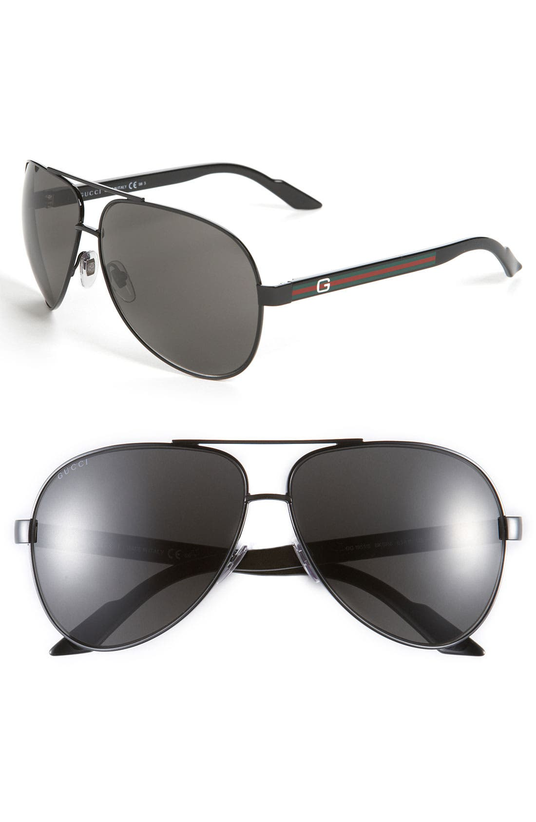 Alternate Image 1 Selected - Gucci Metal 63mm Aviator Sunglasses