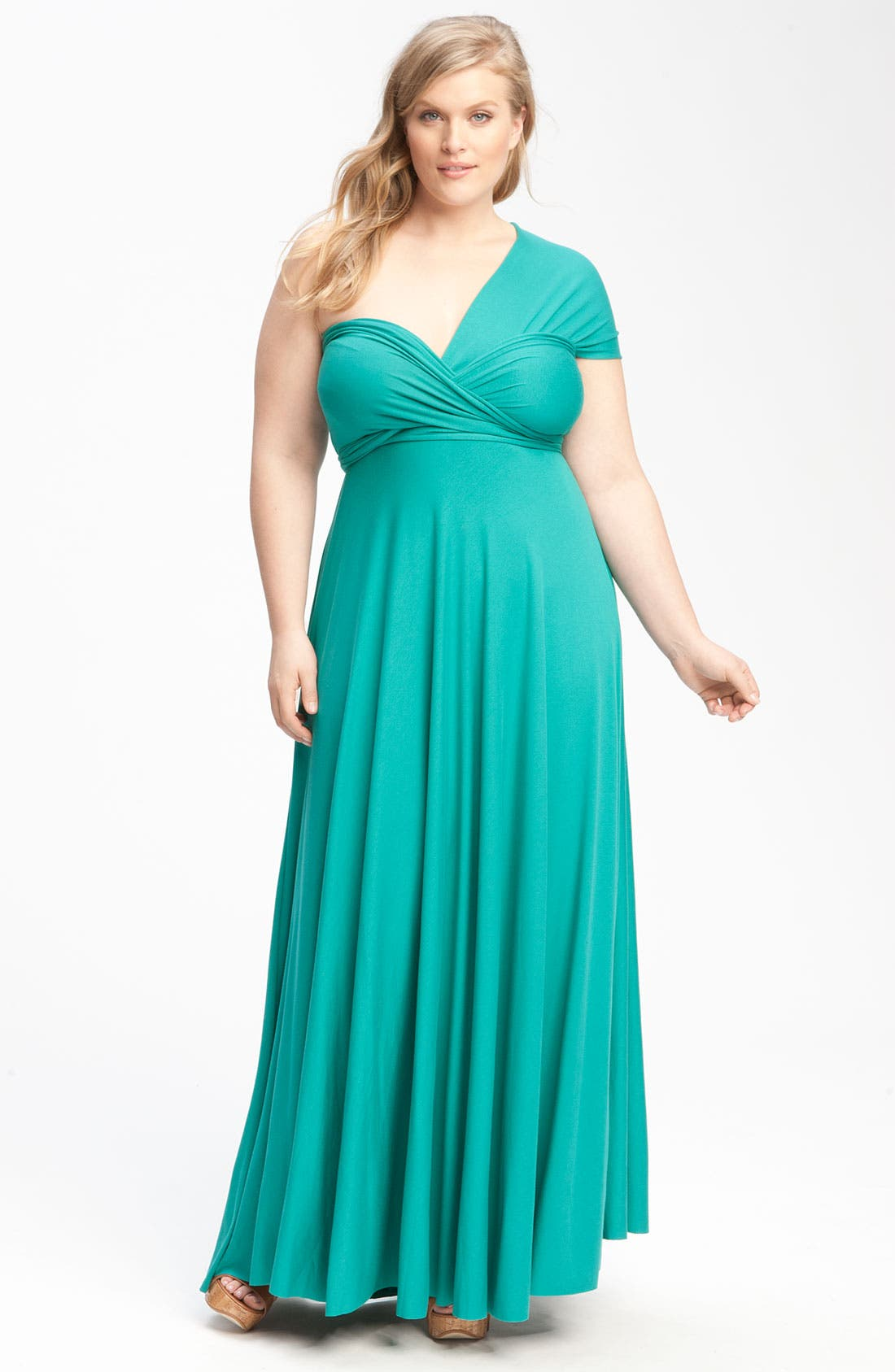 Alternate Image 1 Selected - Monif C 'Marilyn' Convertible Jersey Gown (Plus)