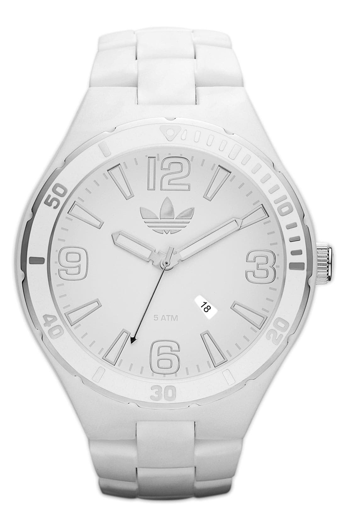 Alternate Image 1 Selected - adidas 'Melbourne' Round Dial Bracelet Watch
