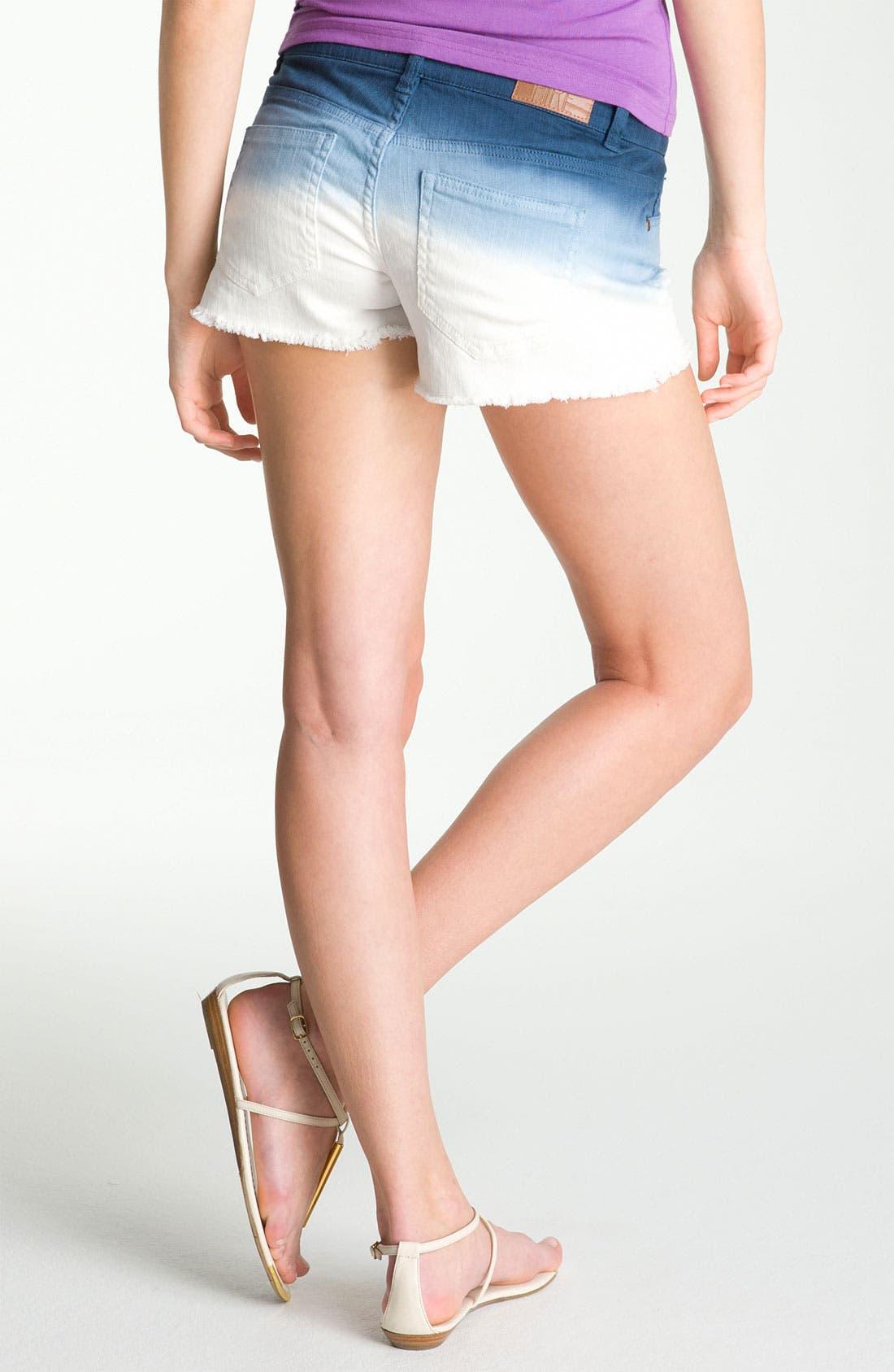 Alternate Image 2  - Fire Dip Dyed Cutoff Denim Shorts (Juniors)
