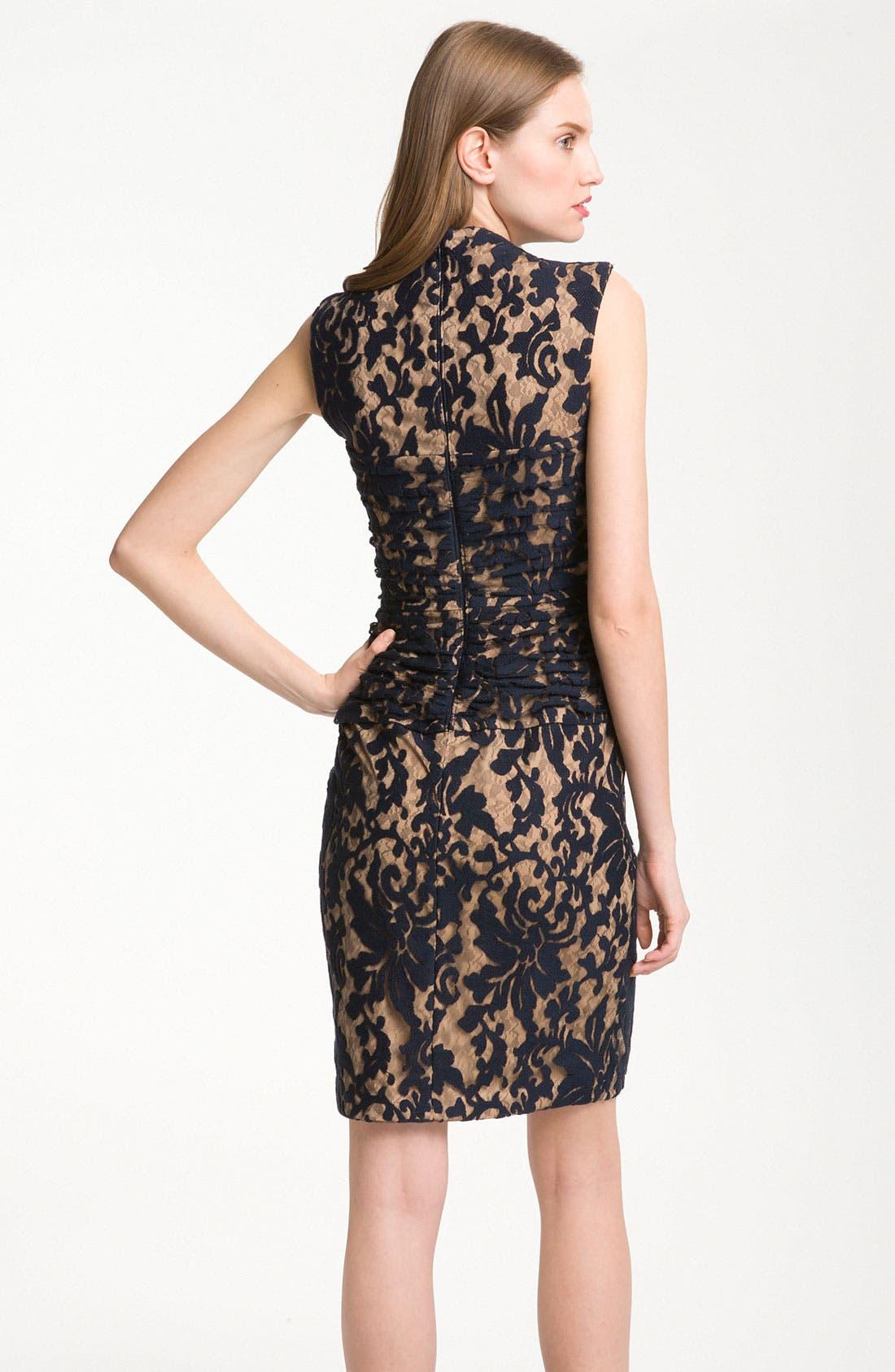 Alternate Image 2  - Tadashi Shoji Pleated Lace Dress