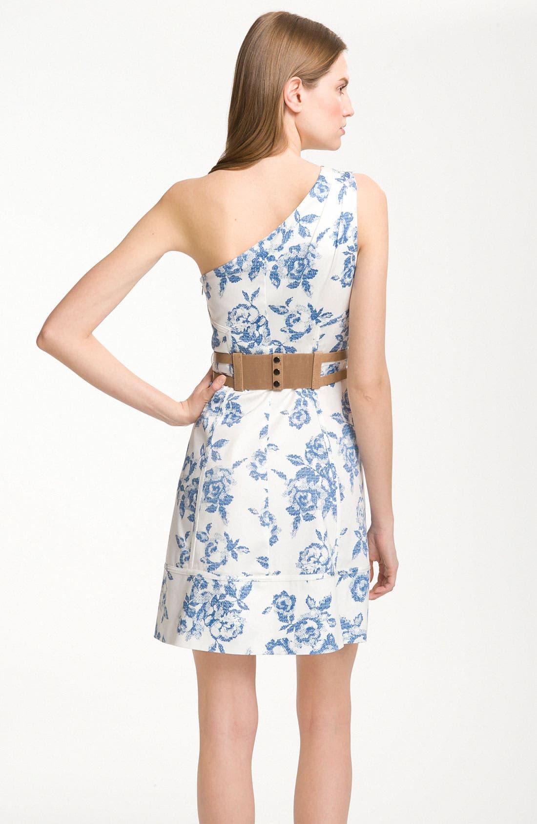 Alternate Image 2  - Jessica Simpson One Shoulder Print Cotton Dress