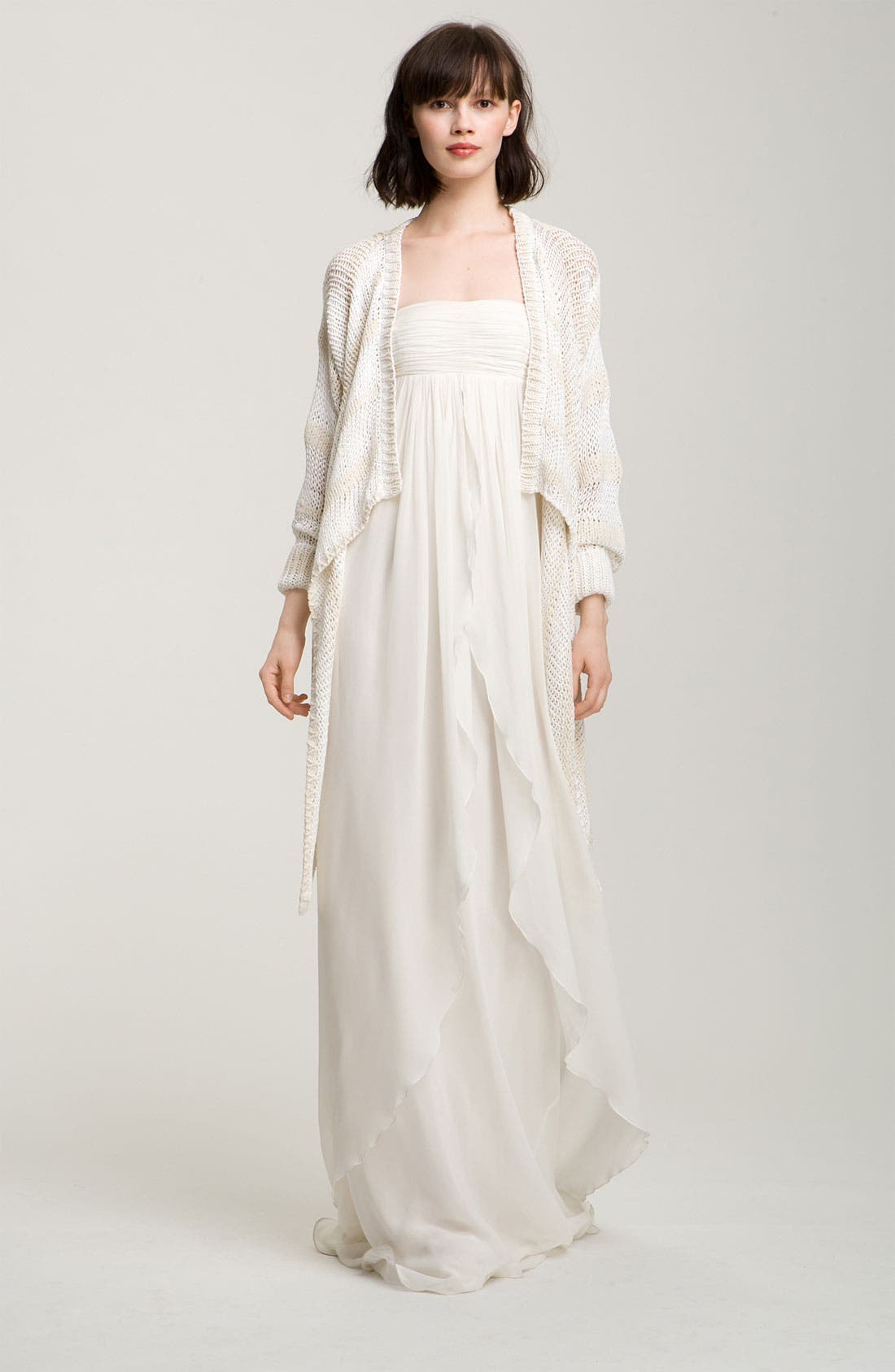 Alternate Image 1 Selected - Rachel Zoe Angled Hem Cardigan