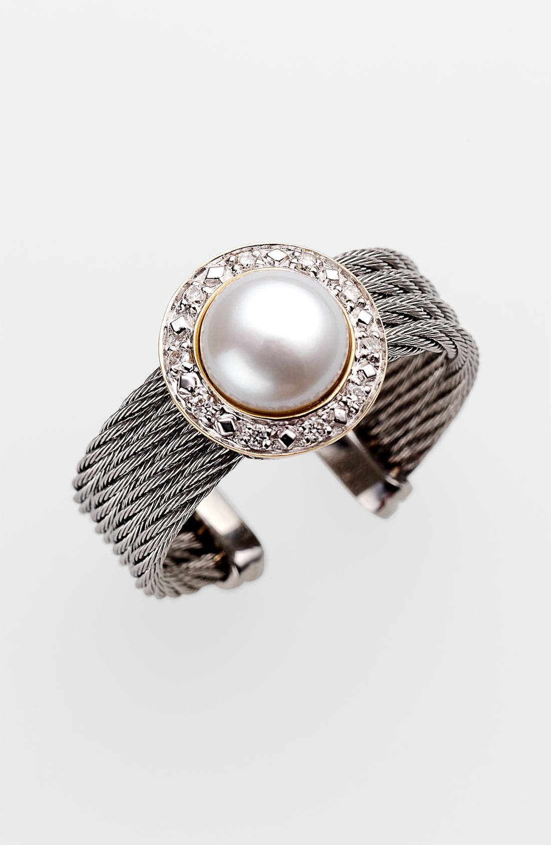 Main Image - ALOR® Pearl & Diamond Ring