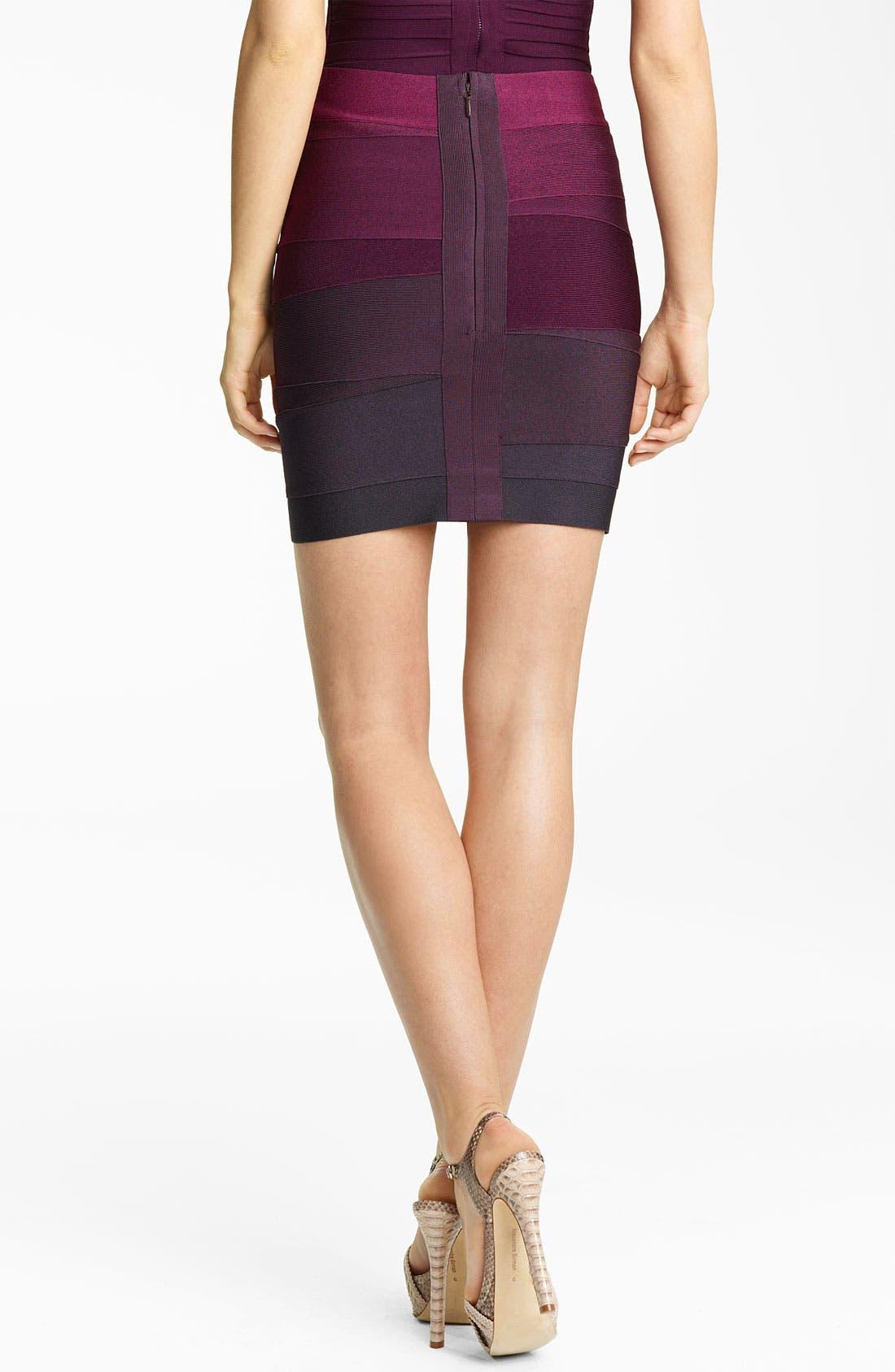 Alternate Image 2  - Herve Leger Ombré Bandage Miniskirt