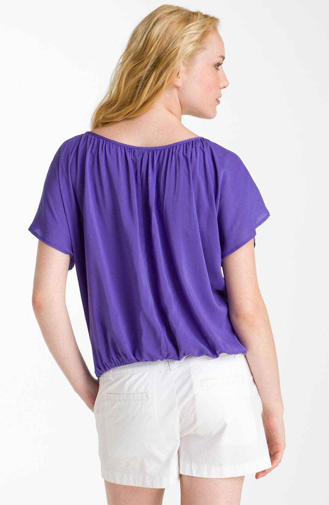 Alternate Image 2  - MOD.lusive Tie Front Flutter Sleeve Top (Nordstrom Exclusive)