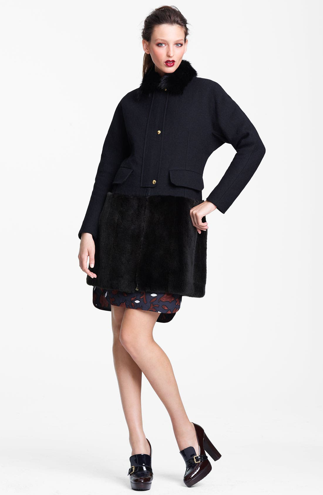 Alternate Image 3  - Marni Edition Fox Collar & Ferret Hem Coat