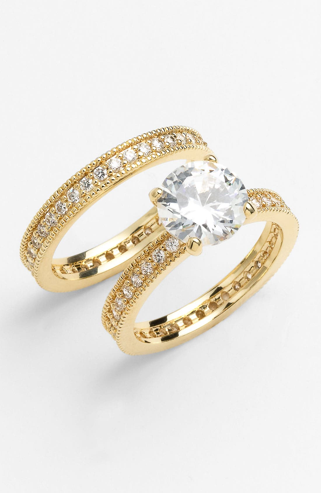 Alternate Image 1 Selected - Ariella Collection Stackable Rings (Set of 2)
