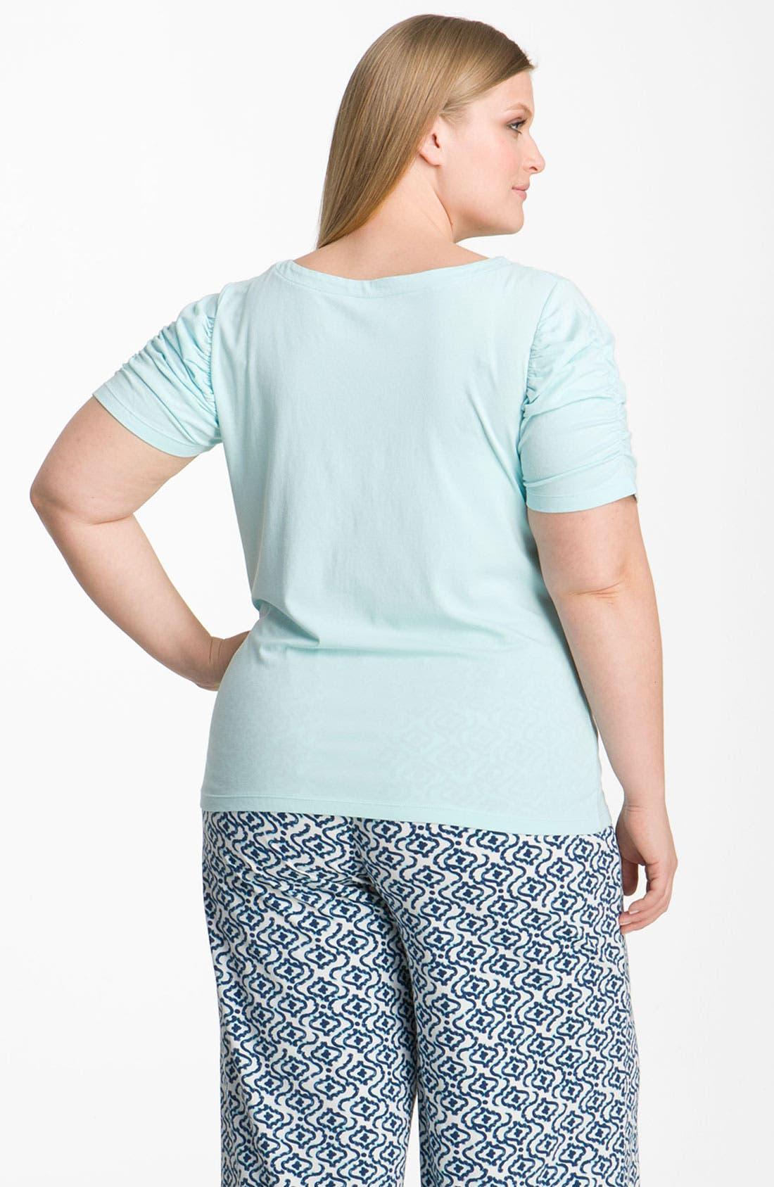 Alternate Image 2  - Hue Shirred Sleeve Sleep Tee (Plus)