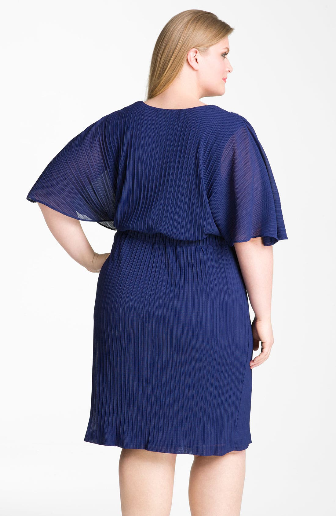Alternate Image 2  - Donna Ricco Ruffle Chiffon Dress (Plus Size)