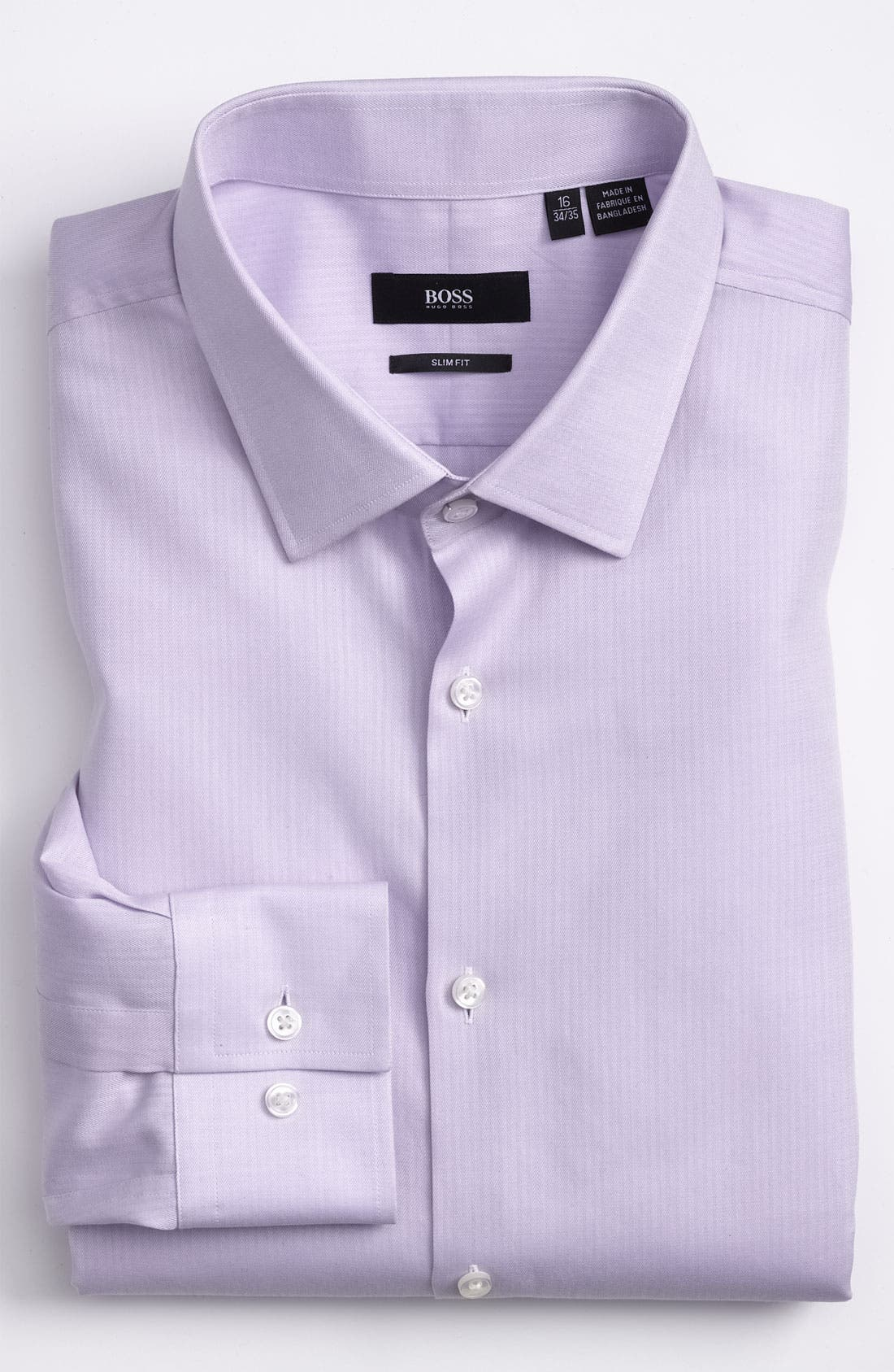 Main Image - BOSS 'Jenno' Slim Fit Herringbone Dress Shirt