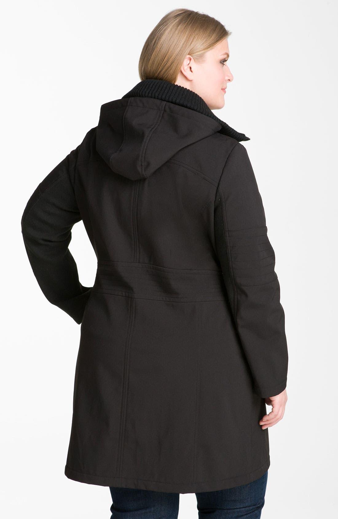 Alternate Image 2  - Miss Sixty Hooded Zip Coat (Plus)