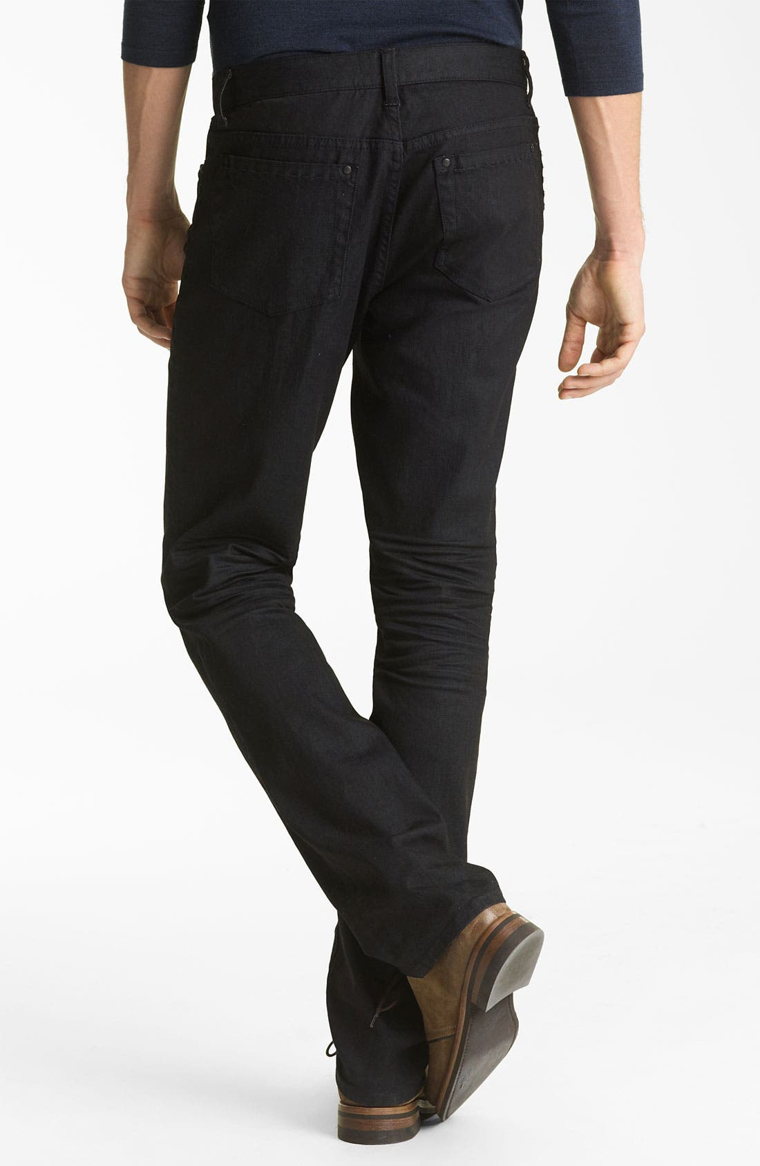 Alternate Image 2  - John Varvatos Collection Slim Fit Jeans (Navy Wash)